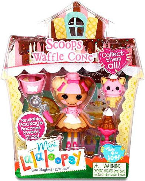 Lalaloopsy Mini Sweet Shop Scoops Waffle Cone Mini Figure Playset
