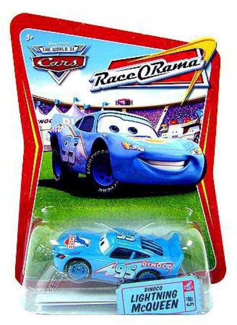 Disney / Pixar Cars The World of Cars Race-O-Rama Dinoco Lightning McQueen Diecast Car #5 [Loose]