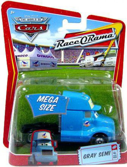 Disney / Pixar Cars The World of Cars Race-O-Rama Gray Semi Diecast Car #10 [Damaged Package]