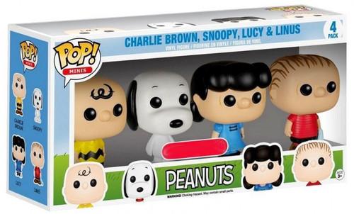 Funko POP! Minis Peanuts Exclusive Vinyl Figure 4-Pack [Damaged Package]