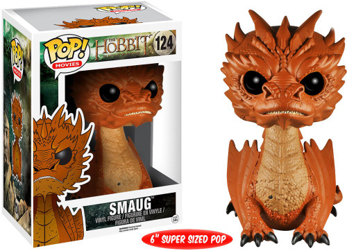 Funko The Hobbit The Desolation of Smaug POP! Movies Smaug (Black Eyes) 6-Inch Vinyl Figure #124 [Super-Sized, Loose]