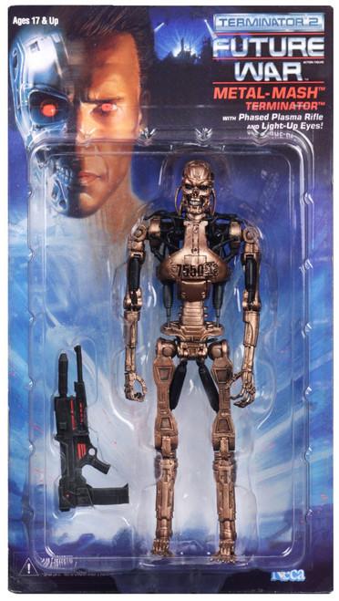 NECA Terminator 2 Judgment Day Kenner Tribute Metal Mash Endoskeleton Action Figure [Damaged Package]