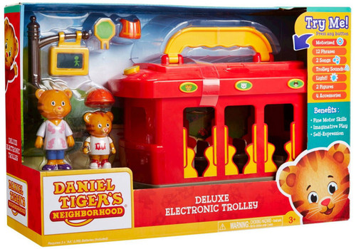Daniel Tiger's Neighborhood Deluxe Electronic Trolley Playset [Damaged Package]