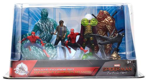 Disney Marvel Spider-Man Far From Home Spider-Man, MJ, Mysterio, Molten Man & Hydro Man Exclusive 7-Piece PVC Figure Play Set