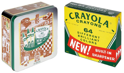 Crayola 60th Anniversary 64 Count Crayon Set Collectible Tin