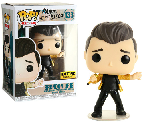 Funko Panic! At the Disco POP! Rocks Brendon Urie Exclusive Vinyl Figure #133