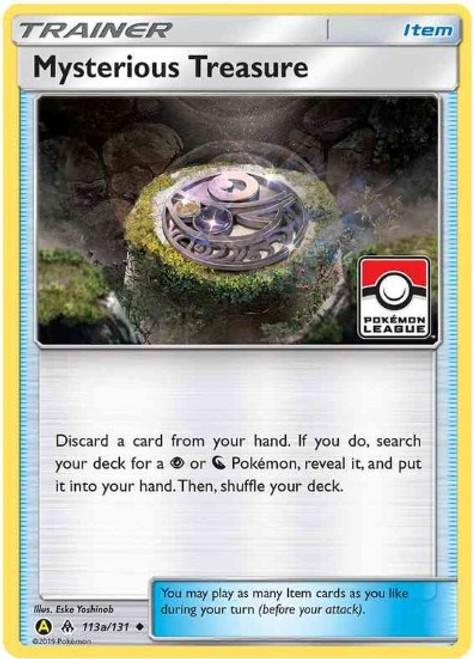 Trading Card Game Pokemon League Promo Reverse Foil Mysterious Treasure #113a
