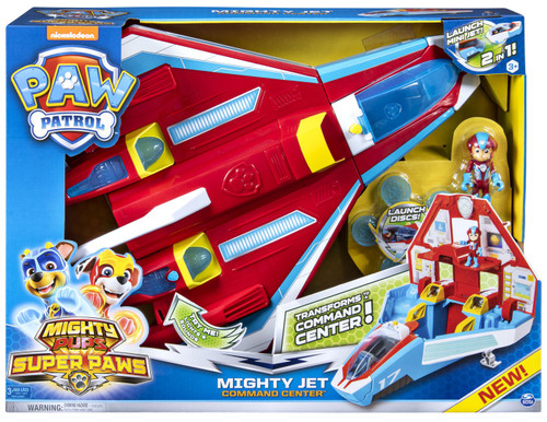 Paw Patrol Mighty Pups Super Paws Mighty Jet Command Center Exclusive Playset