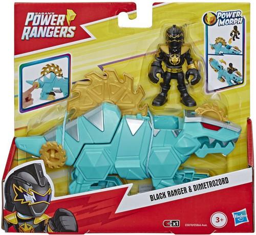 Power Rangers Playskool Heroes Black Ranger & Dimetrozord 3-Inch Figure Set