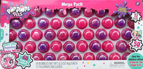 Pop Pops Pets Series 1 MEGA Pack 50-Pack [Pink]