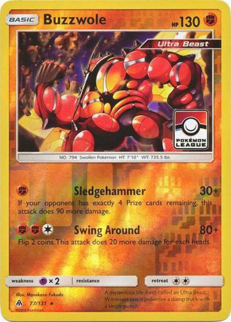 Trading Card Game Pokemon League Promo Reverse Foil Buzzwole #77