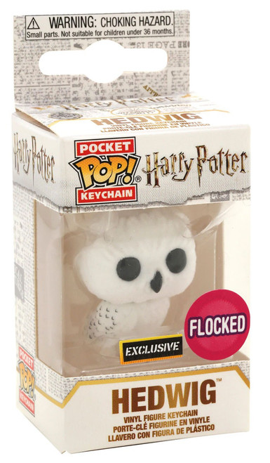 Funko Harry Potter Pocket POP! Movies Hedwig Exclusive Keychain [Flocked]