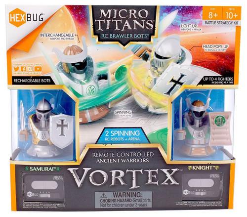 Hexbug Micro Titans Vortex Samurai vs. Knight R/C Robot 2-Pack & Arena