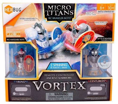 Hexbug Micro Titans Vortex Viking & Centurion R/C Robot 2-Pack & Arena