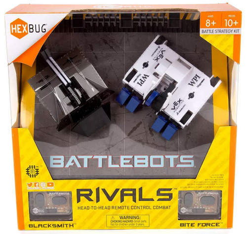 Hexbug Battlebots Rivals Blacksmith vs. Bite Force Battle Strategy Kit