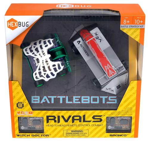Hexbug Battlebots Rivals Witch Doctor vs. Bronco Battle Strategy Kit