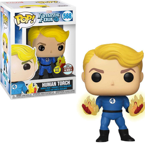 Funko Fantastic Four POP! Marvel Human Torch Exclusive Vinyl Bobble Head #568 [Suited, Specialty Series]
