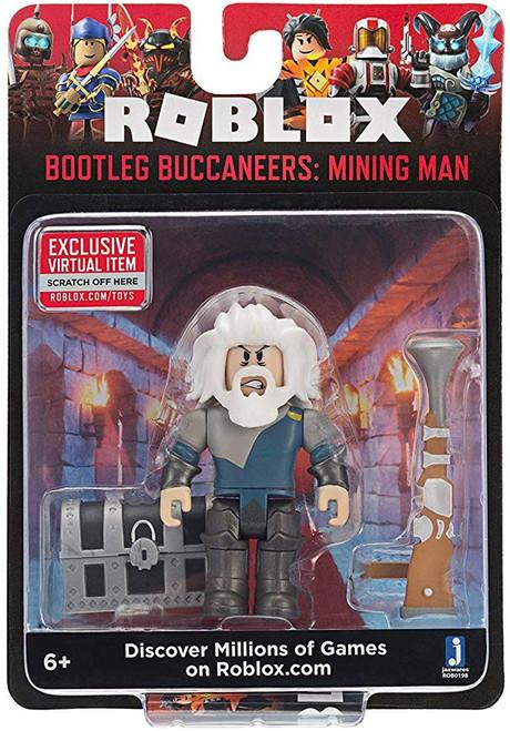 Roblox Bootleg Buccaneers: Mining Man Action Figure