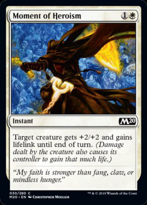 MtG 2020 Core Set Common Foil Moment of Heroism #30