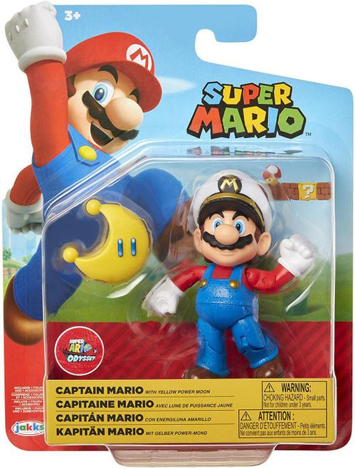 World of Nintendo Captain Mario Action Figure [with Yellow Power Moon]
