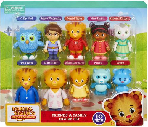 Daniel Tiger's Neighborhood Friends & Family Exclusive Mini Figure 10-Pack