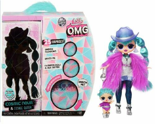 LOL Surprise Winter Disco OMG Cosmic Nova & Cosmic Queen Fashion Doll