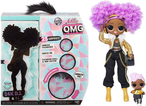 LOL Surprise Winter Disco OMG 24K D.J. & D.J. Fashion Doll