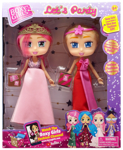 Boxy Girls Let's Party Pink & Priscilla Doll 2-Pack