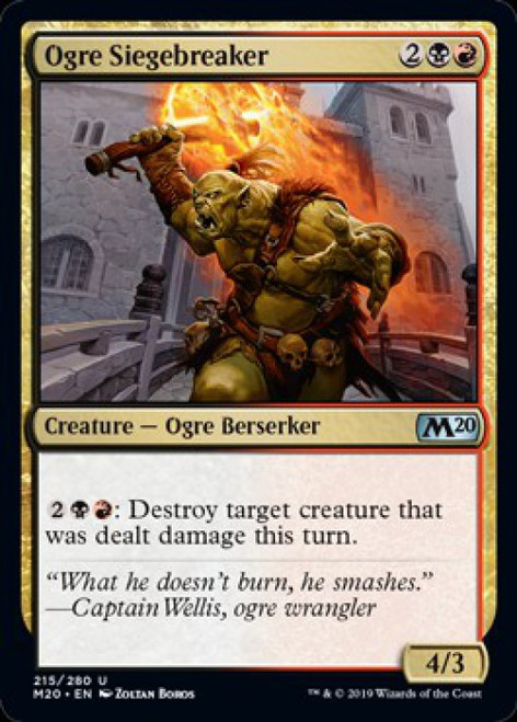 MtG 2020 Core Set Uncommon Foil Ogre Siegebreaker #215