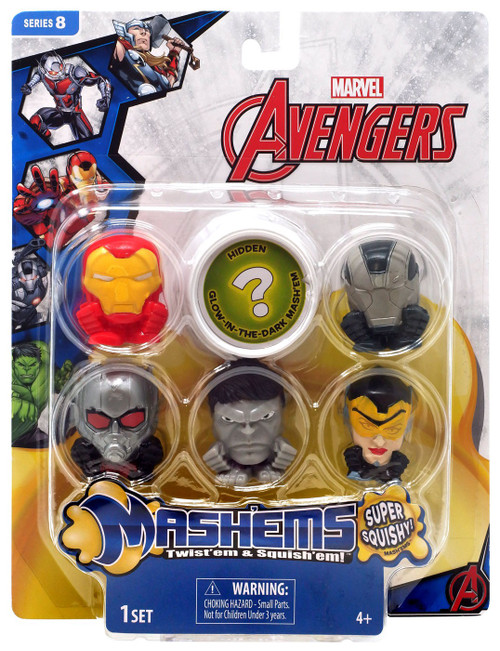 Marvel Mash'Ems Series 8 Avengers Mini Figure 6-Pack