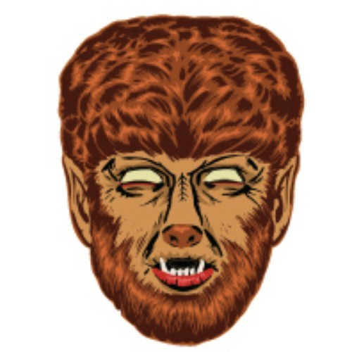Universal Monsters Wolfman Retro Monster Mask [Brown]