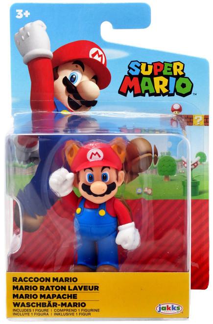 World of Nintendo Super Mario Wave 21 Raccoon Mario 2.5-Inch Mini Figure