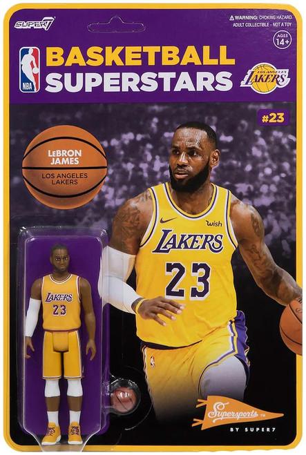 ReAction NBA Los Angeles Lakers LeBron James Action Figure (Pre-Order ships February)