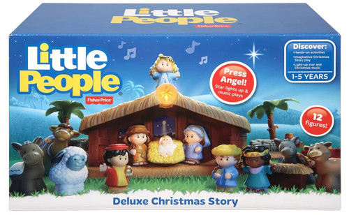 Fisher Price Little People Deluxe Christmas Story Playset