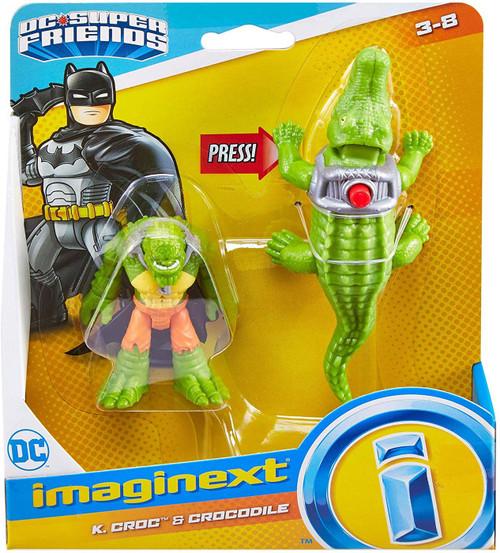 Fisher Price DC Super Friends Imaginext K. Croc & Crocodile 3-Inch Figure Set