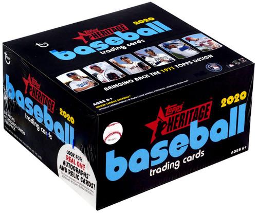 MLB Topps 2020 Heritage Baseball Trading Card RETAIL Box [24 Packs]