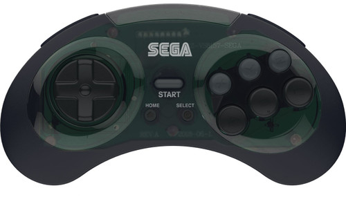 Sega Genesis 8-Button USB Port Wireless Controller [Shadow, 2.4Ghz]