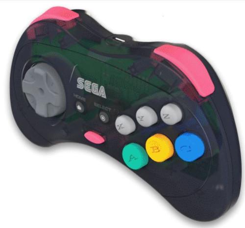 Sega Genesis Sega Saturn 8-Button USB Port Wireless Controller [Slate Grey, 2.4Ghz]