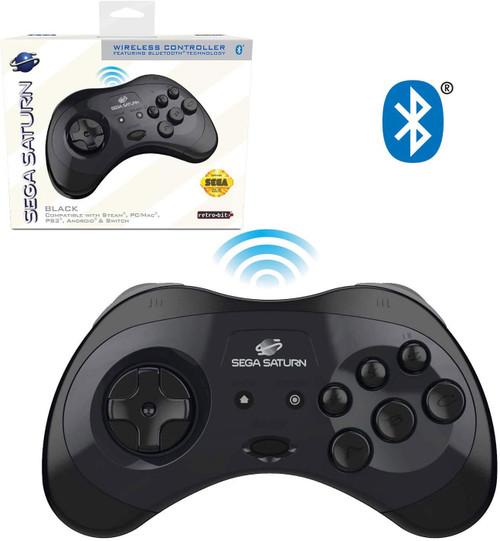Sega Genesis Sega Saturn 8-Button w/ Bluetooth Wireless Controller [Black]
