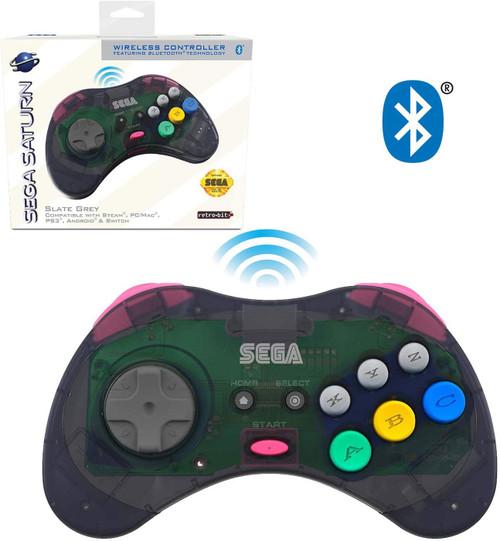 Sega Genesis Sega Saturn 8-Button w/ Bluetooth Wireless Controller [Slate Grey]