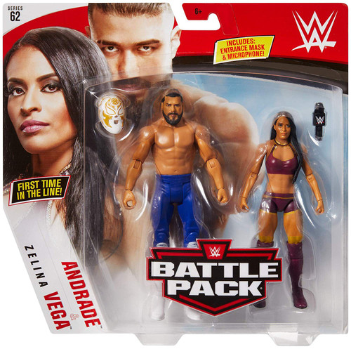 WWE Wrestling Battle Pack Series 62 Andrade & Zelina Vega Action Figure 2-Pack
