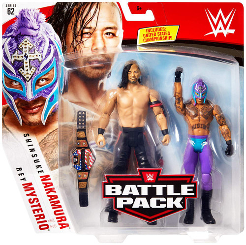 WWE Wrestling Battle Pack Series 62 Rey Mysterio & Shinsuke Nakamura Action Figure 2-Pack