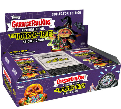 Garbage Pail Kids Topps 2019 Revenge of the Oh, The Horror-ible Trading Card Sticker COLLECTOR Edition HOBBY Box [24 Packs]