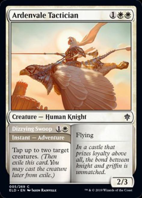 MtG Throne of Eldraine Common Ardenvale Tactician // Dizzying Swoop #5