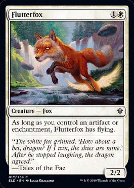 MtG Throne of Eldraine Common Flutterfox #12