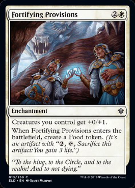 MtG Throne of Eldraine Common Fortifying Provisions #13