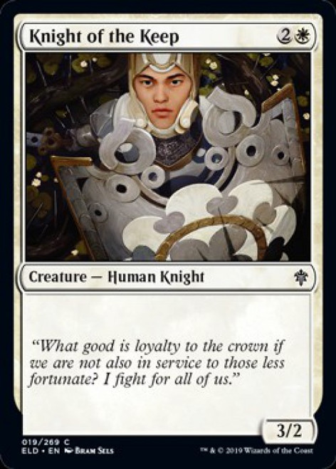 MtG Throne of Eldraine Common Knight of the Keep #19