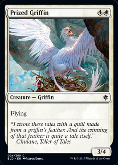 MtG Throne of Eldraine Common Prized Griffin #24
