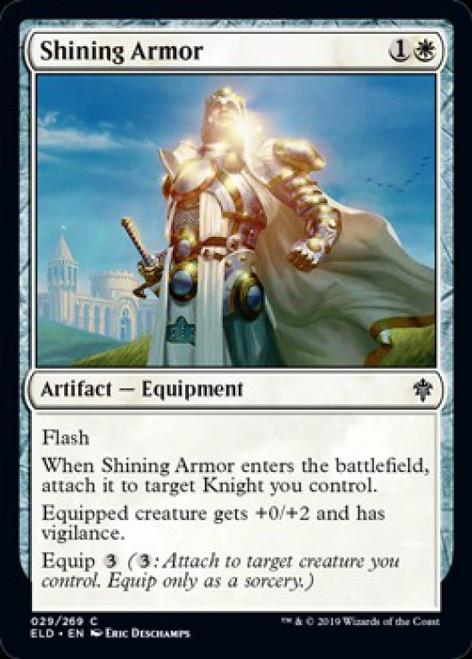 MtG Throne of Eldraine Common Shining Armor #29