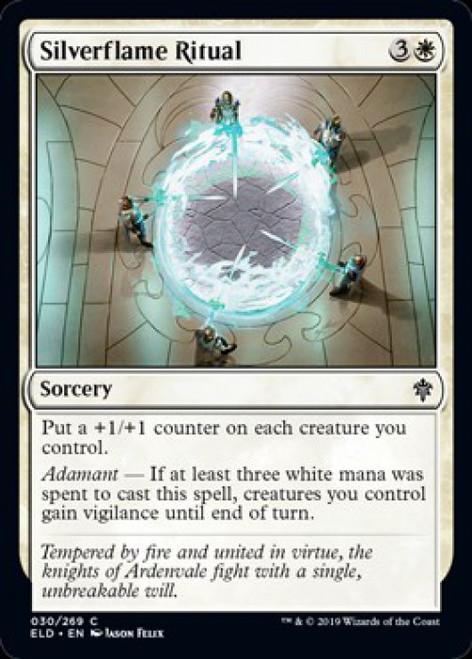 MtG Throne of Eldraine Common Silverflame Ritual #30